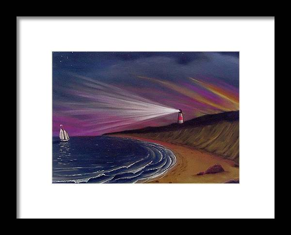 Sankaty Framed Print featuring the painting Sankaty Head Lighthouse Nantucket by Charles Harden