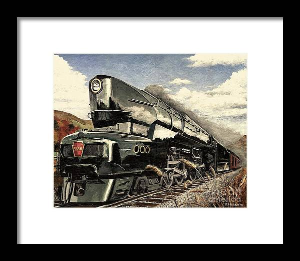 Pennsylvania Railroad Framed Print featuring the painting Showin Off by David Mittner