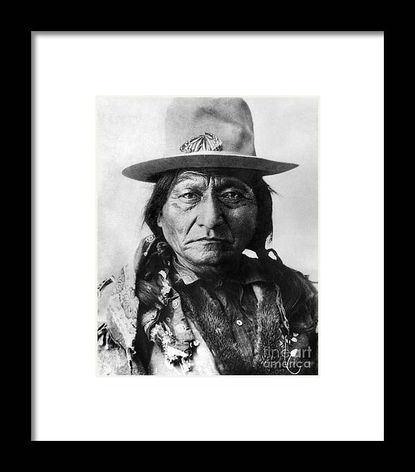 19th Century Framed Print featuring the photograph Sitting Bull (1834-1890) by Granger