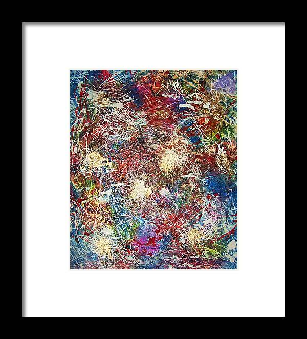 Art Framed Print featuring the painting Splash by HollyWood Creation By linda zanini
