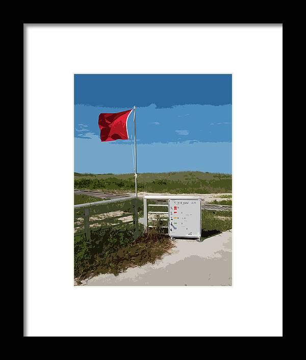 Storm Framed Print featuring the painting Storm Warning On The Atlantic Ocean In Florida by Allan Hughes