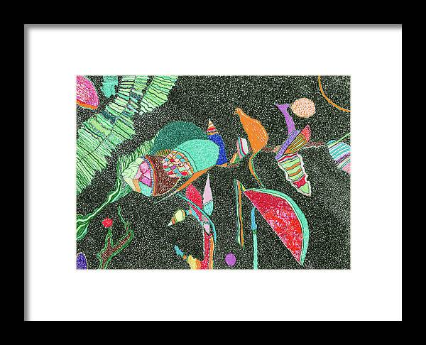 Elena Framed Print featuring the painting Watermelon In The Space by Elena Ferri