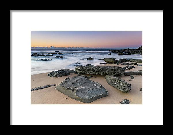 Australia Framed Print featuring the photograph Sunrise And The Sea by Merrillie Redden