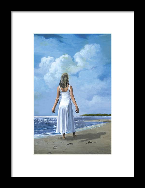 Book Cover Framed Print featuring the painting The Awakening by Harold Shull