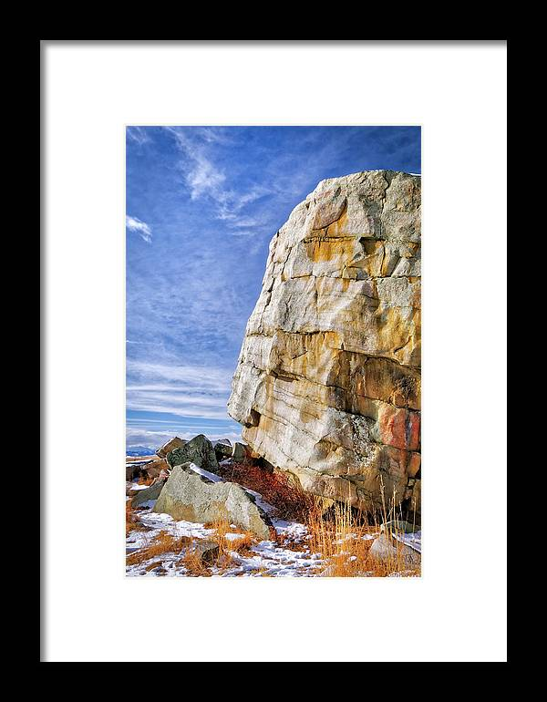 Alberta Framed Print featuring the photograph The Big Rock by Roderick Bley