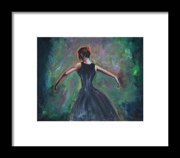 Dance Framed Print featuring the painting The Dancer by Taly Bar