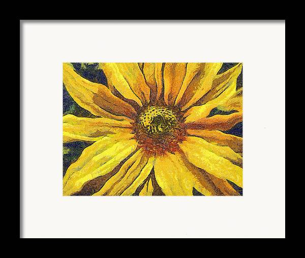 Odon Framed Print featuring the painting The Flower by Odon Czintos