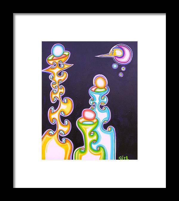 Fantasy Framed Print featuring the painting 3 T's by      Gillustrator