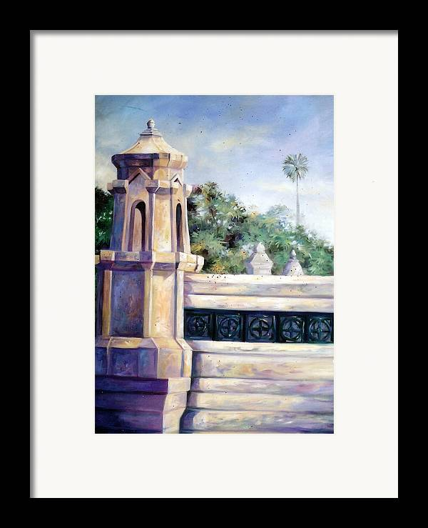 Oil Framed Print featuring the painting Untitled by Chonkhet Phanwichien