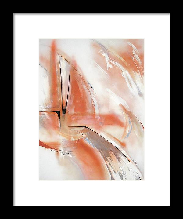 Abstract Framed Print featuring the painting Untitled by Linda Frank