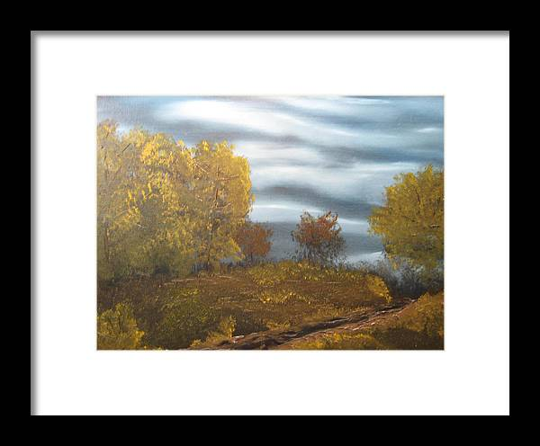Landscape Framed Print featuring the painting Untitled by Todd Androy