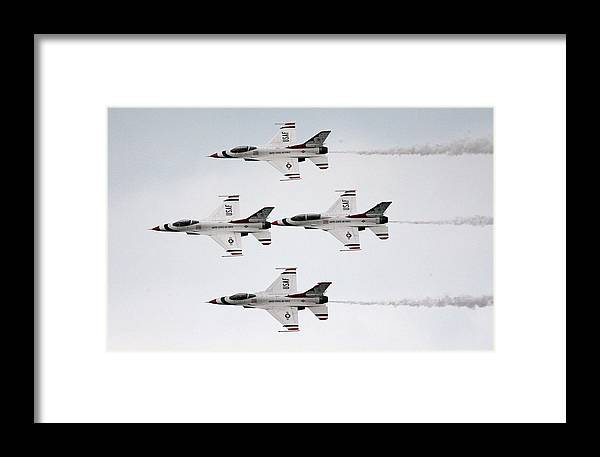 United States Air Force Framed Print featuring the photograph Usaf Thunderbirds by Victor Alcorn