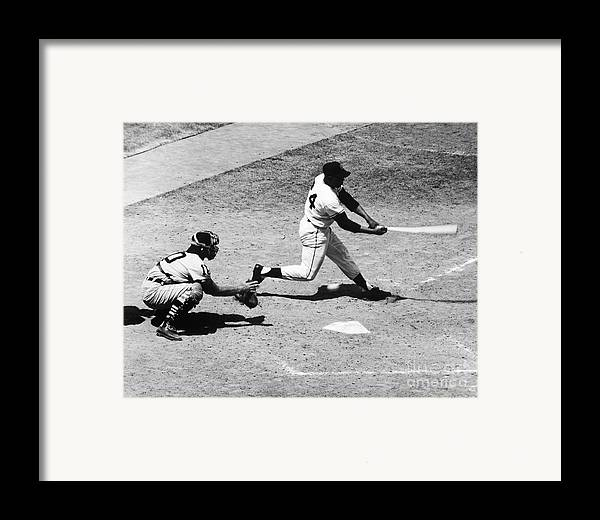 1959 Framed Print featuring the photograph Willie Mays (1931- ) by Granger
