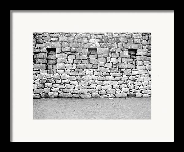 Machu Picchu Framed Print featuring the photograph 3 Windows by Marcus Best