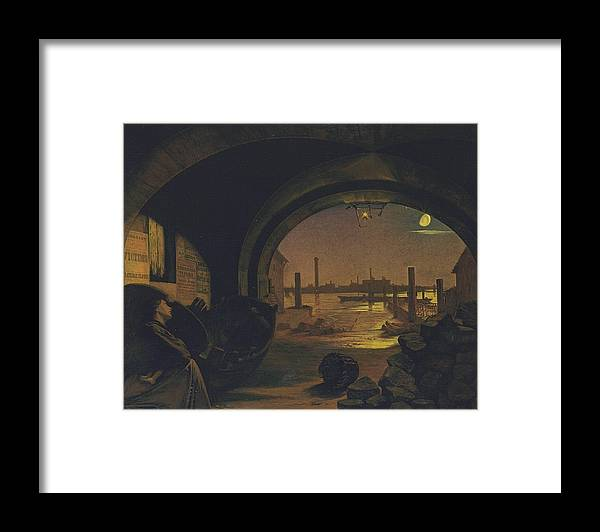 Augustus Leopold Egg 1816–1863  Past And Present Framed Print featuring the painting Past And Present by MotionAge Designs
