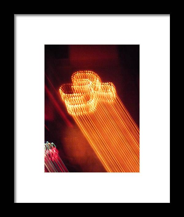 Abstract Framed Print featuring the photograph 30 Secounds To Launch by Florene Welebny