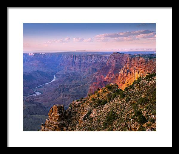 Beautiful Grand Canyon Colors Framed Print featuring the photograph Canyon Glow by Mikes Nature