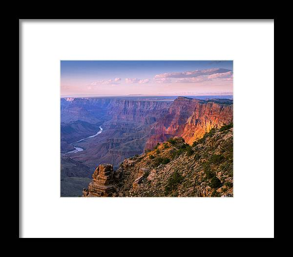 Grand Canyon National Park Framed Print featuring the photograph Canyon Glow by Mikes Nature
