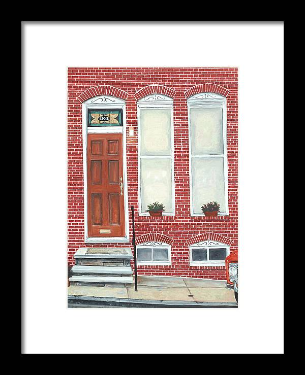 Hamburg Street Framed Print featuring the painting 305 Hamburg by John Schuller
