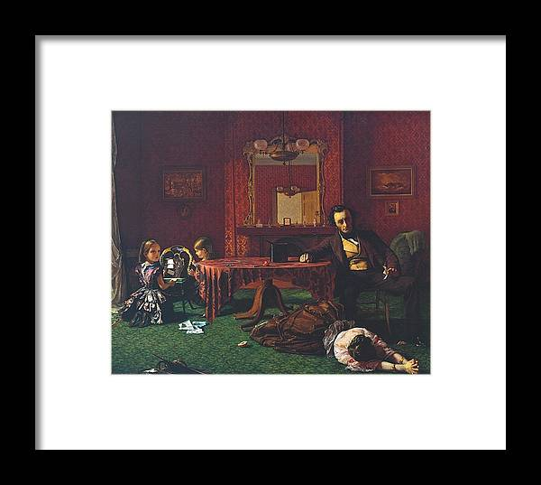 Augustus Leopold Egg 1816–1863 Framed Print featuring the painting Past And Present by MotionAge Designs