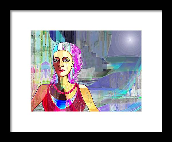 Woman Framed Print featuring the painting 311  A Northern Springtime V  by Irmgard Schoendorf Welch