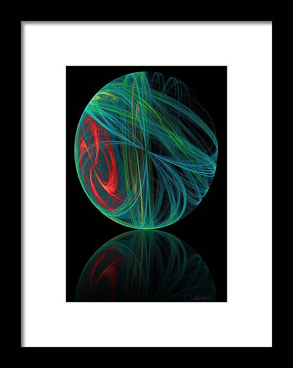 Abstract Framed Print featuring the digital art 311 by Lar Matre