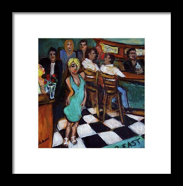 Restaurant Framed Print featuring the painting 32 East by Valerie Vescovi