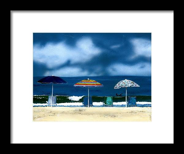 Newport Beach Framed Print featuring the painting 32nd Street by Charles Parks