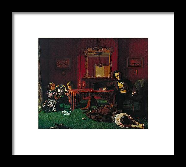 Augustus Leopold Egg Framed Print featuring the painting Past And Present by MotionAge Designs