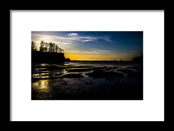 Framed Print featuring the photograph Sunset Bay Beach by Angus Hooper Iii