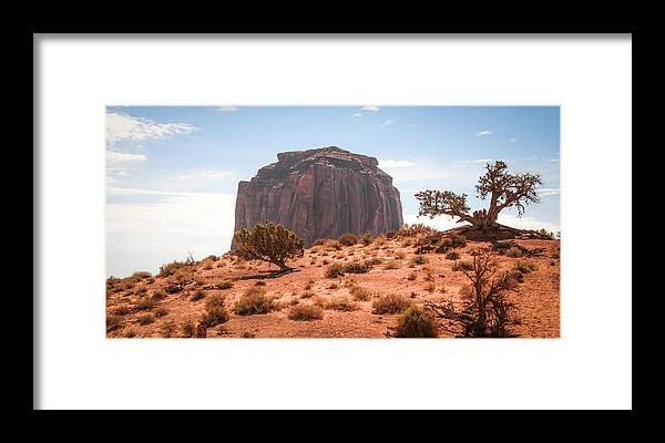 Monument Valley Framed Print featuring the photograph #3328 - Monument Valley, Arizona by Heidi Osgood-Metcalf