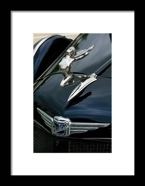 1934 Framed Print featuring the photograph 34 Buick - The Lady Can Fly by David Dunham