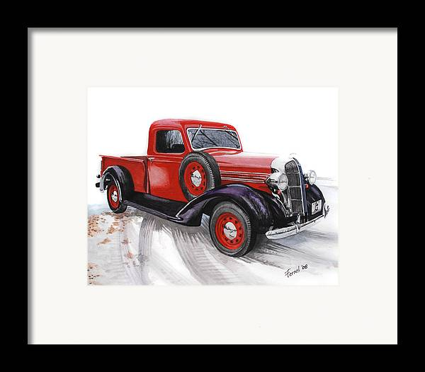 Dodge Framed Print featuring the painting 36 Dodge by Ferrel Cordle
