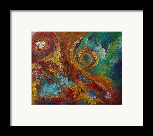 Abstract Framed Print featuring the painting 36 by Lou Ewers