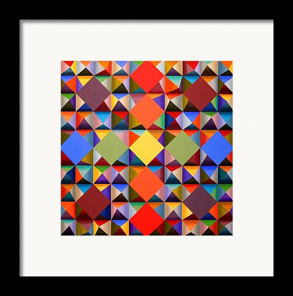 Abstract Framed Print featuring the painting 361 by M Jaquis