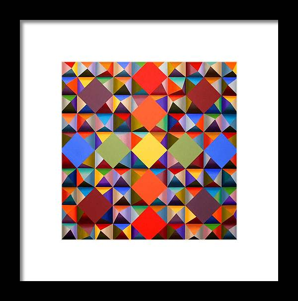 Abstract Framed Print featuring the painting 361 by Marston A Jaquis
