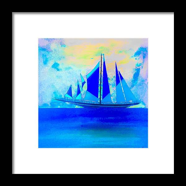 Sail Framed Print featuring the painting Setting Sail by Barry Knauff