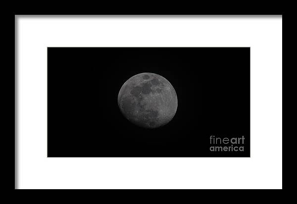 Moon Framed Print featuring the photograph Waxing Gibbous by Dale Powell