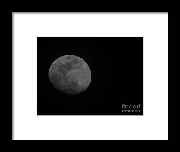 Moon Framed Print featuring the photograph Waxing Crescent by Dale Powell