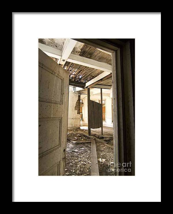 Preston Castle Framed Print featuring the photograph 3rd Floor Door And Ruined Room by Norman Andrus