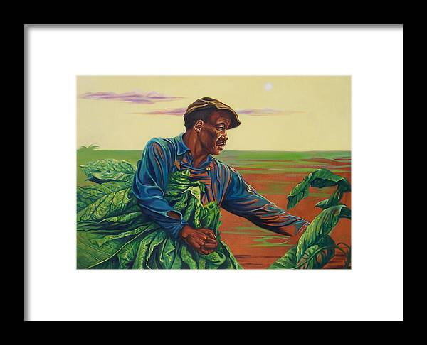 Figurative Framed Print featuring the painting 3rd Pickins by Arnold Hurley