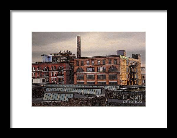 Condo Framed Print featuring the digital art 3rd Ward Condos by David Blank