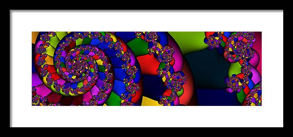 Schnecke Framed Print featuring the digital art 3x1 Abstract 909 by Rolf Bertram