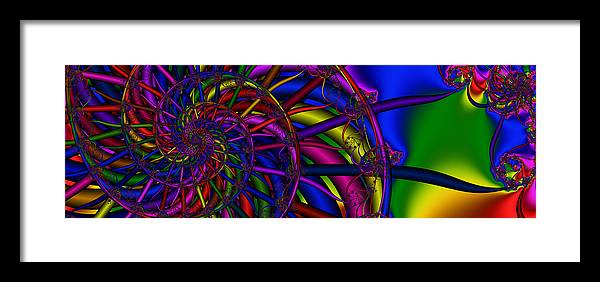 Spokes Framed Print featuring the digital art 3x1 Abstract 912 by Rolf Bertram