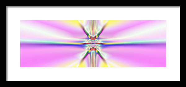 Colorful Distortions Framed Print featuring the digital art 3x1 Abstract 917 by Rolf Bertram