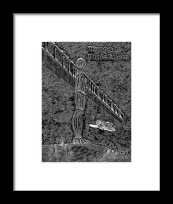 Angel Christmas Framed Print featuring the painting Angel Of The North by Neal Crossan