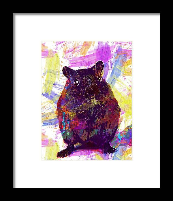 Animal Framed Print featuring the digital art Animal Attractive Beautiful Brown by PixBreak Art
