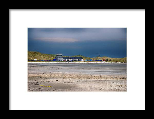 Barra Framed Print featuring the photograph Barra Airport by Smart Aviation