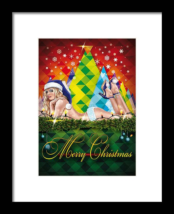 Decoration Framed Print featuring the digital art Christmas Greetings by Don Kuing