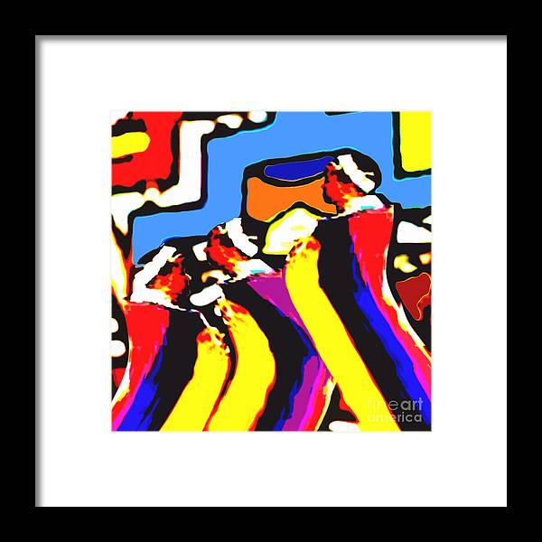 Africa Framed Print featuring the digital art Dr by Caddelle Faulkner